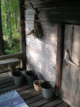 Bouleau et sauna